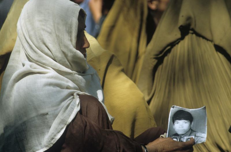 Eie afghanische Frau bedauert den Verlust ihres Sohnes, 06.03.1989 / Foto © Andrej Solomonow/Sputnik