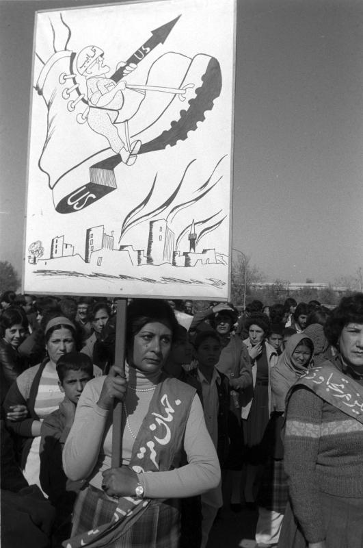 Demonstration gegen die Einmischung der USA in innere Angelegenheiten Afghanistans, Kabul, 01.01.1986 / Foto © Alexander Graschenkow/Sputnik