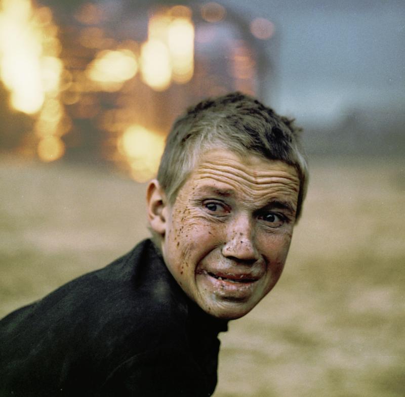 Das verzerrte Antlitz des Jungen wird in Klimows Film zum Spiegel dessen, was mit dem Gesicht des Zuschauers geschehen kann. Szene aus dem Film / Foto© L. Luppov/Sputnik