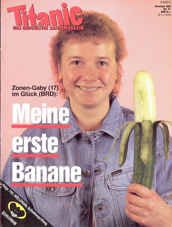 «Семнадцатилетняя Габи  из советской зоны счастлива в ФРГ – Мой первый банан»