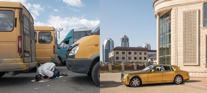 """""""Grosny kann durchaus mit Moskau mithalten – schöne Straßen, alles wie geleckt"""" / Fotos © Dmitry Markov für Meduza"""